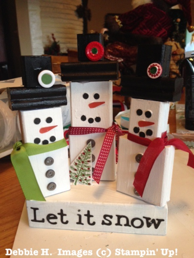 Debbies-stampin-up-wood-block-snowmen