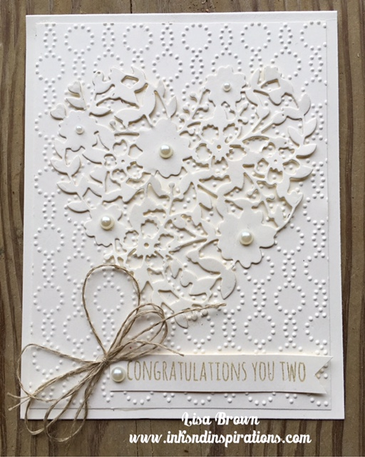 Here's A Wedding Card Idea With Stampin' Up! Bloomin