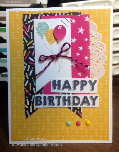 Quick Video For Birthday Card With Stampin Up Party Wishes