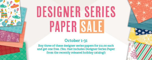 Designer Series Paper Sale Ends Soon!