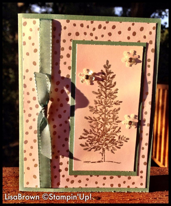 Christmas Card Making Ideas 2014 Part - 43: Stampinu0027 Up! Christmas Cards 2014- #5 Lovely As A Tree Video Tutorial - Ink  And Inspirations