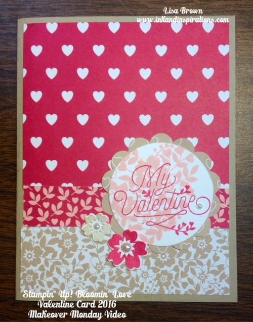 Makeover monday 2016 valentine card with new bloomin love ink stampin up bloomin love valentine card makeover monday m4hsunfo