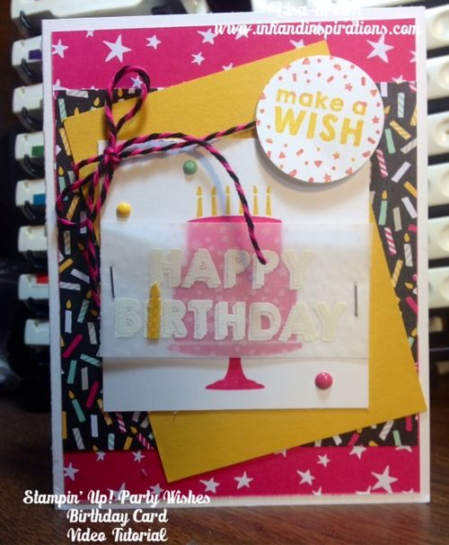 Stampin Up Party Wishes Birthday Card 1 27