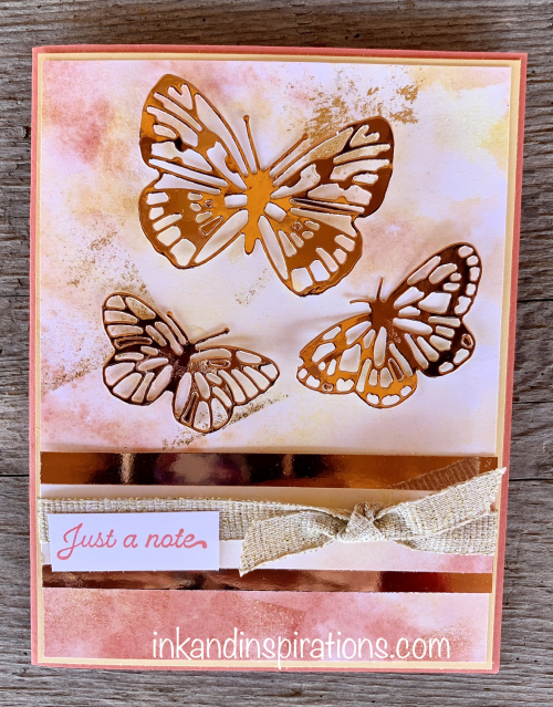 stampin up butterfly brilliance card idea