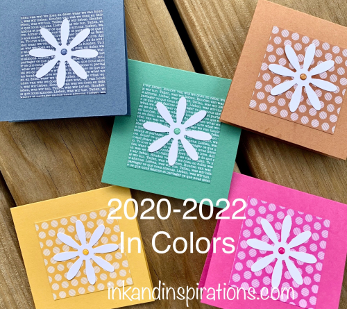 New Stampin' Up! 2020-2022 In Colors