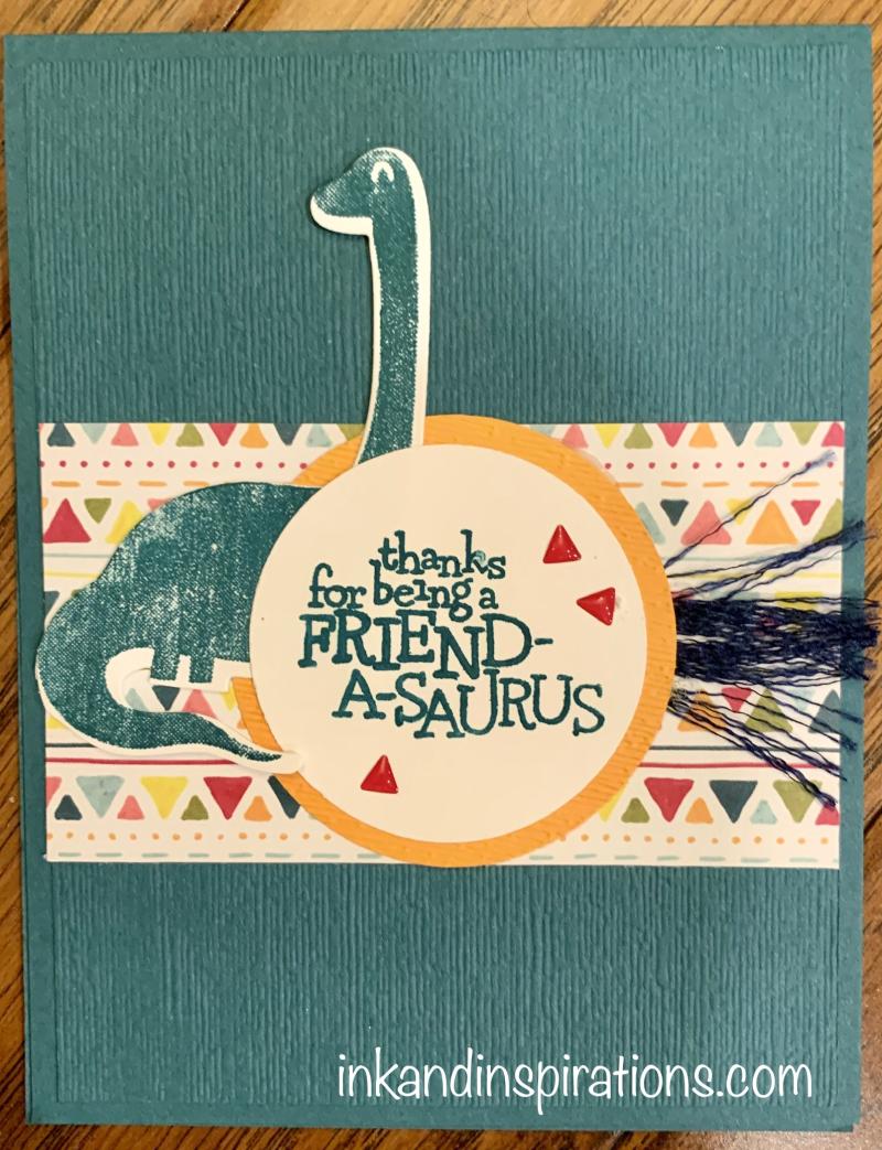 Dino-days-card-ribbon-technique